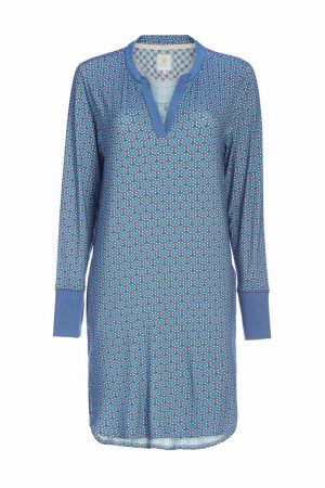 Koszula nocna Dieteke Buttons up Nightdress long sleeve